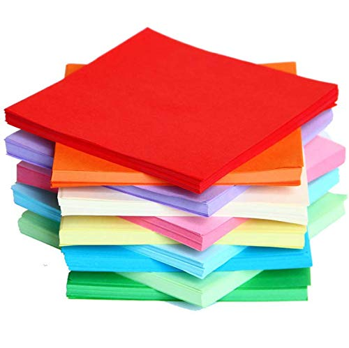 100PCS Origami Paper for Kid, 6x6 inches, 20 Vivid Colored Folding Paper, Double Sided Origami Squares
