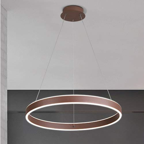 Lámpara colgante, lámpara de araña LED, lámpara colgante de mesa de comedor regulable, lámpara de techo de acrílico para restaurante moderno nórdico, lámpara creativa de aluminio, altura ajustable [