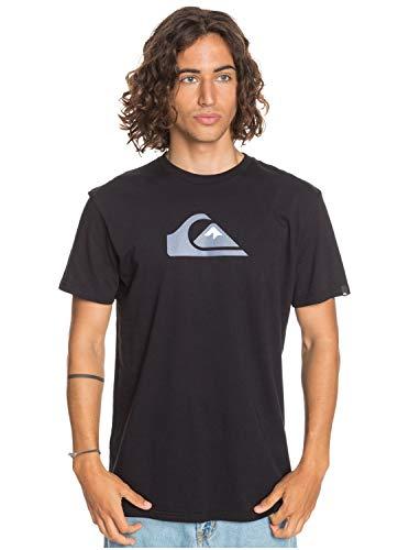 Quiksilver Herren T-Shirt Comp Logo - T-Shirt für Männer, Black, XS, EQYZT06056
