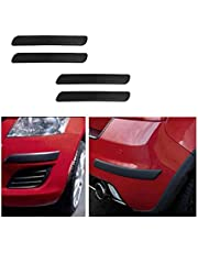 A2D Black Set of 4 Car Bumper Guard Protectors for Tata Tiago