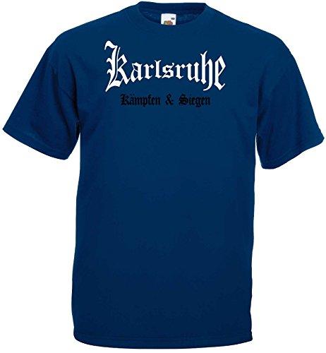 world-of-shirt Herren T-Shirt Karlsruhe kämpfen und Siegen