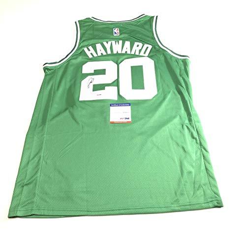 Gordon Hayward signed jersey PSA/DNA Boston Celtics Autographed Green