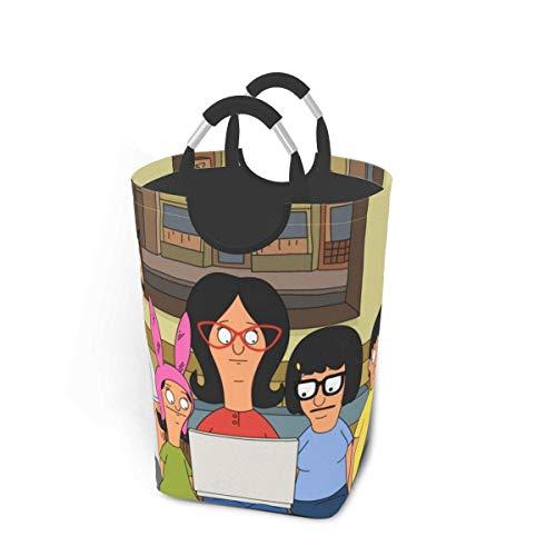 songyang Bo-bs Bu-rg-ers - Cestas de lavandería impermeables para ropa sucia, con asas Folle de gran tamaño, para la familia, dormitorio, hotel