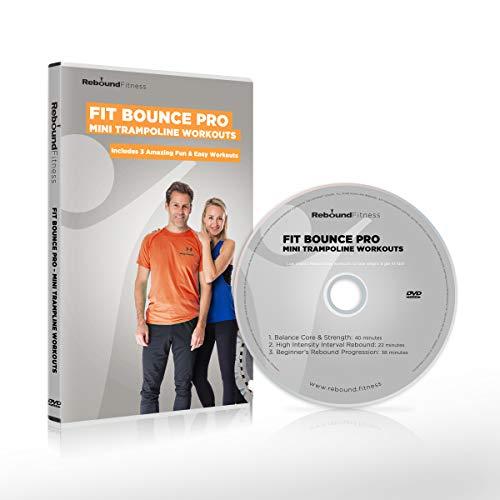 Fit Bounce Pro Mini Trampolin Workout-DVD (nur in englischer Sprache verfügbar) | Enthält 3 fantastische Rebounder-Workouts für Fitness und Gewichtsverlust| Fun Indoor Trampolin Workouts