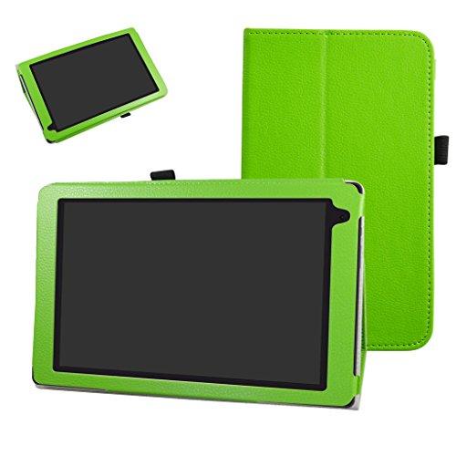 Mama Mouth Archos 101b Oxygen Funda, Slim PU Cuero con Soporte Funda Caso Case para 10.1' Archos 101b Oxygen Android 6.0 Tablet PC,Verde