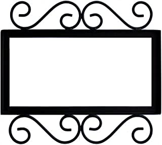 wrought iron house number frames