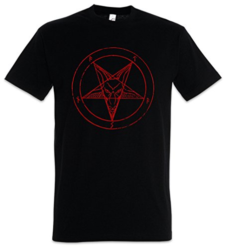 BAPHOMET PENTAGRAM SIGN T-SHIRT - Aleister Crowley Pentagramm Satanic Circle 666