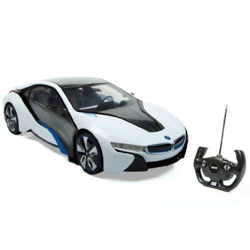 Radio Remote Control Model Car 1/14 BMW i8 Authentic Body Styling W/Brilliant Lighting Effects RC Vehicles (White) by Midea Tech