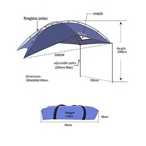 Outdoor Camping Auto Markise Baldachin Zelt SUV Auto hinten Zelt Auto Seite Zelt Sonne Shelter Tent