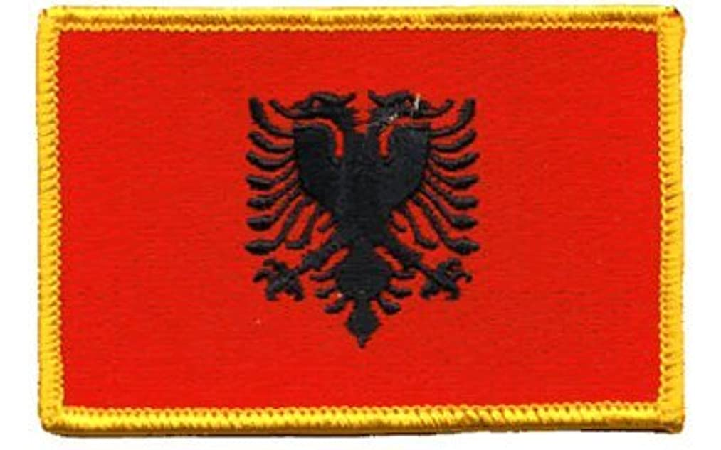 Albania iron-on embroidered patch