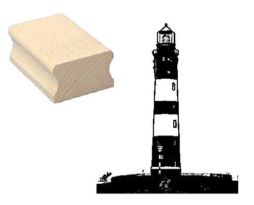 Stempel Holzstempel Motivstempel « LEUCHTTURM INSEL AMRUM » Scrapbooking - Embossing Seefahrt Meer Ozean Schiff Urlaub