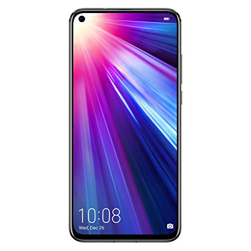 HONOR View 20 Dual SIM, 6GB RAM and 128 GB storage, 48 MP AI Camera with 6.4 Inch Full View Display, UK Official Device – Midnight Black