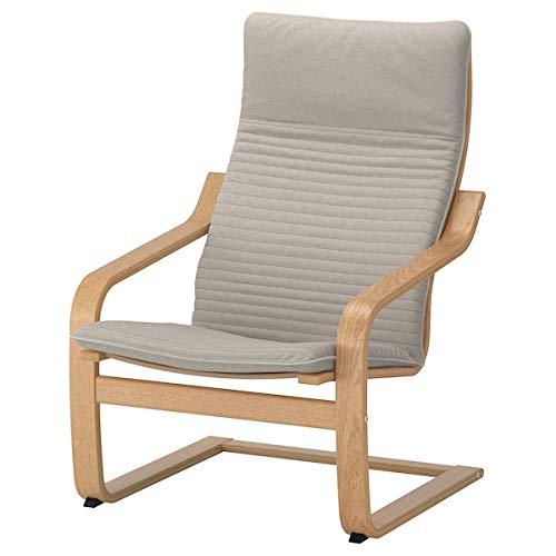 DiscountSeller POÄNG Poltrona impiallacciata in rovere, 68x82x100 cm, resistente e facile da pulire, poltrone in tessuto, poltrone e chaise longue, divani e poltrone 68x82x100 cm Knisa Beige Chiaro