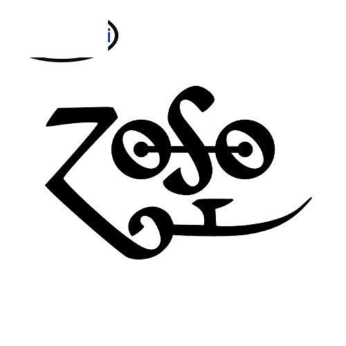 Adesivo per auto Jdm Styling Window Bumper Decal Truck Frigo ZOSO Led Zeppelin 13cm