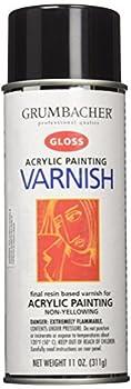 Grumbacher Hyplar Gloss Varnish Spray for Acrylic Paintings 11 Oz Can #547