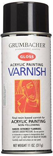 Grumbacher Hyplar Gloss Varnish Spray for Acrylic Paintings, 11 Oz. Can, #547