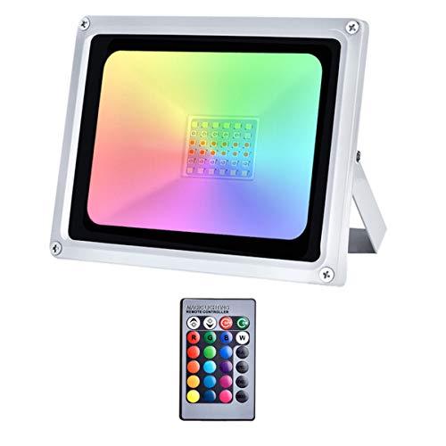 XYD 30W RGB Foco LED 16 Colores 4 Modos 2400LM IP65
