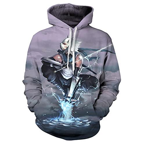 Unisex Japanese Anime Hoodies 3D Printed Pullovers Sweatshirts Gift for Men Women BlackS-5-XX-Large