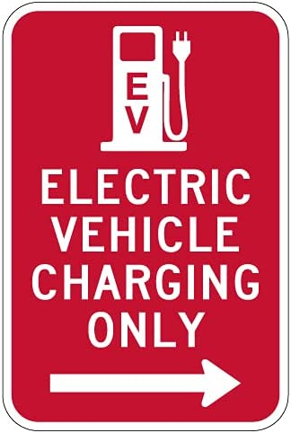 STOPSignsAndMore - Albuquerque Mall Electric Vehicle Long Beach Mall Charging Only A Right Sign