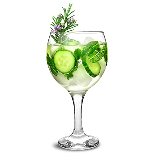 bar@drinkstuff Essence Gin Balloon Glasses 22.7oz / 645ml - Pack of 6 - Copa de Ballon Gin & Tonic Cocktail Glasses