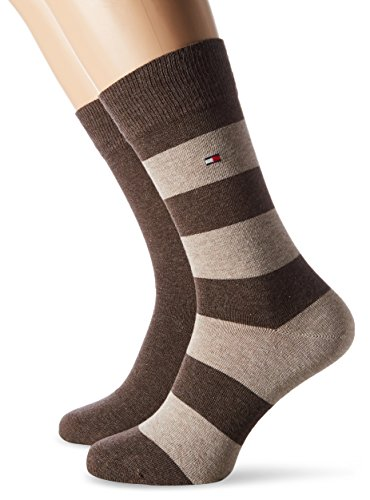 Tommy Hilfiger Herren TH MEN RUGBY 2P Socken, Braun (Oak 778), 43-46 (2er Pack)