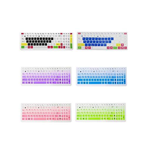 Keyboard Cover Protector de silicona para teclado Asus K50 Laptop Accessory R91A-Negro