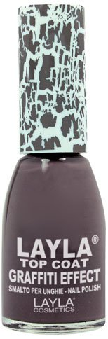 Layla Cosmetics Top Coat Graffiti Nagellack, mud gray, 1er pack (1 x 0.01 L)