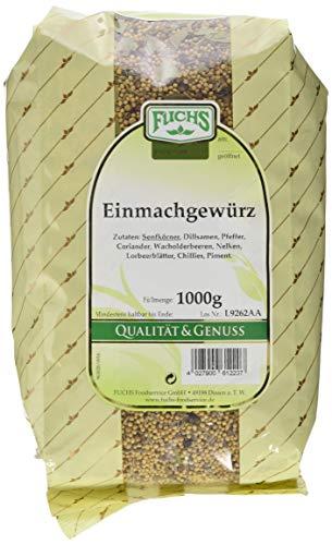 Fuchs Einmachgewürz ganz im 1er Pack (1 x 1 kg) - zum Einmachen von Gemüse oder zum Verfeinern von Antipasti, Fleisch,- oder Fischgerichten