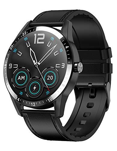 Smartwatch Damen Herren Fitness Armband Pulsuhr Uhr mit Blutdruck Messgeräte Sport Armbanduhr Bluetooth Anruf Musiksteuerung Wasserdicht IOS Android