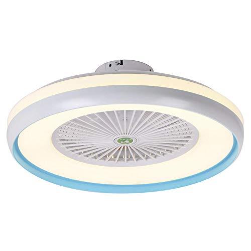 Lixada Plafondventilator met verlichting, led-licht, traploos dimmen, instelbare windsnelheid, afstandsbediening, zonder batterij, moderne led-plafondlamp voor slaapkamer, woonkamer, eetkamer