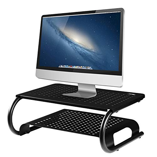 Halter Premium Vented Two Tier Metal Monitor Stand
