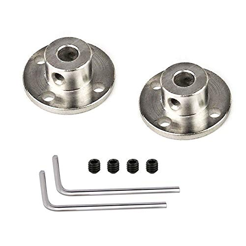 2 Pieces 7mm Rigid Flange Shaft Coupling DIY Model Accessory Guide Shaft Axis Bearing Fittings Motor Coupler Connector