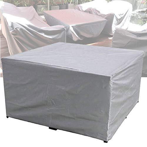 Apodis Cubierta de Muebles de Jardín Funda Protectora Muebles Impermeable Anti-UV 210D Oxford Protección Exterior Mesa de Jardín, Plata 250×200×80cm