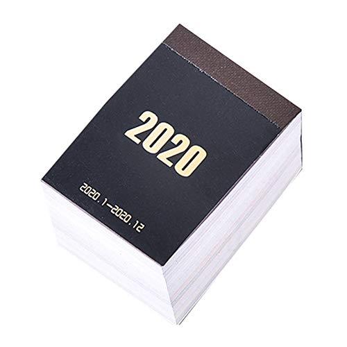 Baifeng 2020 Mini calendario de escritorio de papel, planificador diario, planificador de mesa, organizador anual portátil