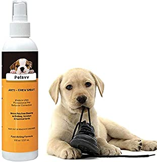 No Chew Spray Deterrent for Dogs, Anti Chew Pet Training Corrector   Non-Toxic   Alcohol Free   Made in USA - 8oz