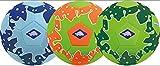 Schildkröt Funsports Balón de Fútbol de Playa de Neopreno, Tamaño 5, Ø 21 cm, 970278, Azul/Verde Naranja/Verde