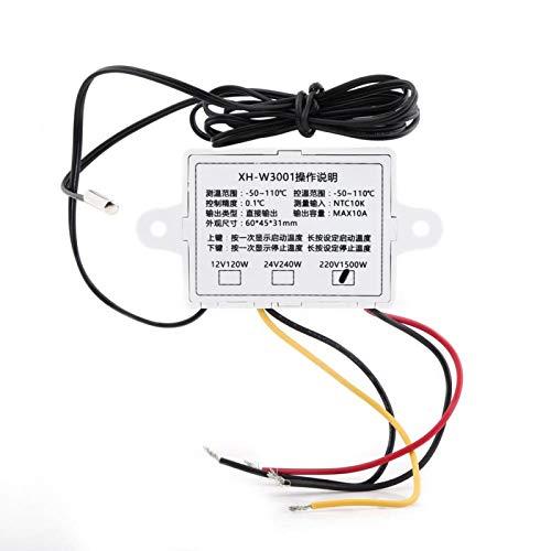Interruptor de termostato, controlador de temperatura, AC220V simple para sistema de aire acondicionado Caja de equipo de protección con control de temperatura de precisión de 0,1 ℃