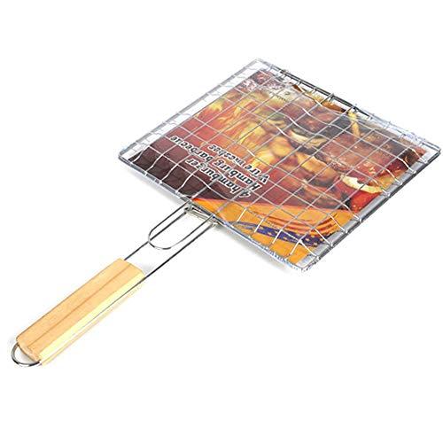 judao - Rejilla portátil para Barbacoa o Pescado, para Barbacoa, Verduras, Salchichas, Comida, Carne, Plegable, Soporte
