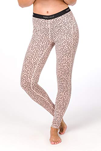 super. Natural W Base 175 Printed Femme en Laine mérinos Tight L Blush/Blush Stars