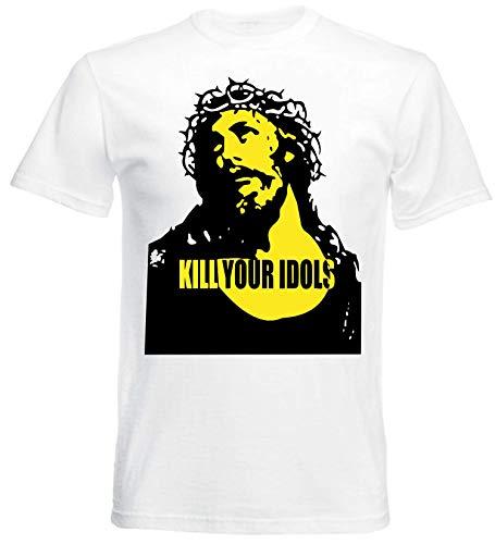 nationshirt Kill Your Idols Hardcore Punk Music Band Grunge NYC USA Swag - Camiseta Blanco M