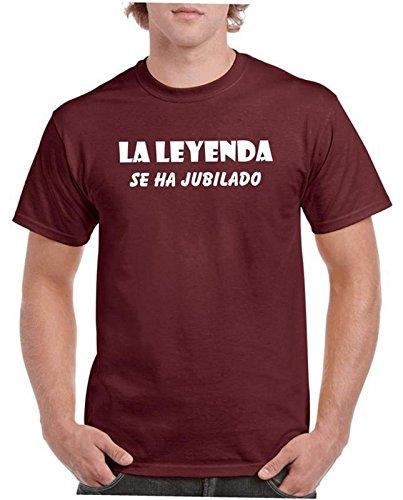 Camisetas divertidas Child Leyenda se ha Jubilado - para Hombre Camisetas Talla XL Color Granate
