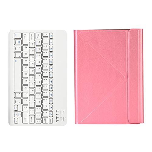 Fransande - Funda para tablet y teclado inalámbrico para Teclast P20HD M40 ALLDOCUBE IPlay20 / Pro para 9,7-10,4 pulgadas universal (rosa)