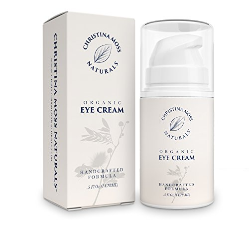 Eye Cream Moisturizer - Under Eye Firming Cream - Made With Organic & Natural Ingredients - Eye Wrinkle Repair Cream For Depuffing & Dark Circles. Skin Care For Eyes Unscented, Christina Moss Naturals