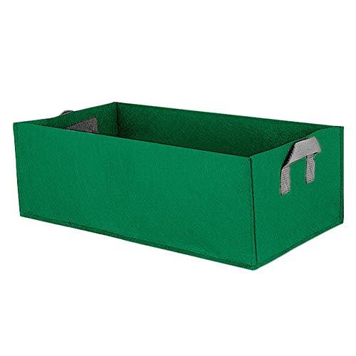 Planting Grow Bag met Hqandle, Niet-geweven Stof Rechthoek Buiten Tuin Groente Tomaat Aardappel Wortel Bloem Grow Bag Plant Pot (Groen L)
