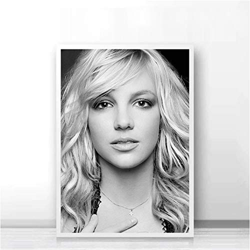 LGXINGLIyidian Britney Spears Poster Tela Murale Adesivo Murale Carta da Parati in Bianco E Nero Decorazione della Stanza C219F