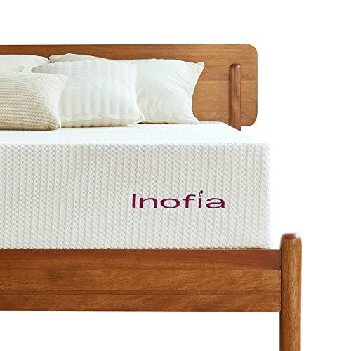 Inofia Matratze 90x200 Memory Foam Matratze Kaltschaummatratze H3 Höhe 20cm Weiß,waschbar Bezug für Allergiker,Lavendel,ÖKO-TEX® 100,100 Nächte Probeschlafen,10 Jahre Garantie(90 x 200 cm)