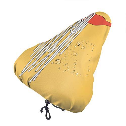 Cubierta de Lluvia para Asiento de Bicicleta para niños, Comida de Fideos en Palillos, Cubierta de Asiento Personalizada, Cubierta de Asiento de Bicicleta con cordón