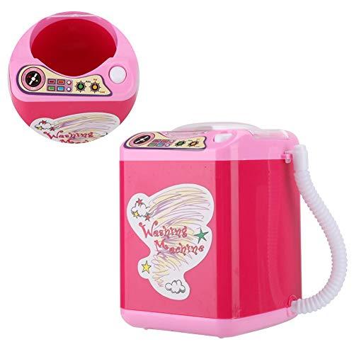 Pennenhouder voor schoolkinderen, mini-wasmachine speelgoed voor meisjes, water in- / aftappen, wiel draaien, uitschakelen, voor het reinigen van make-upborstels en borstels, geweldig cadeau