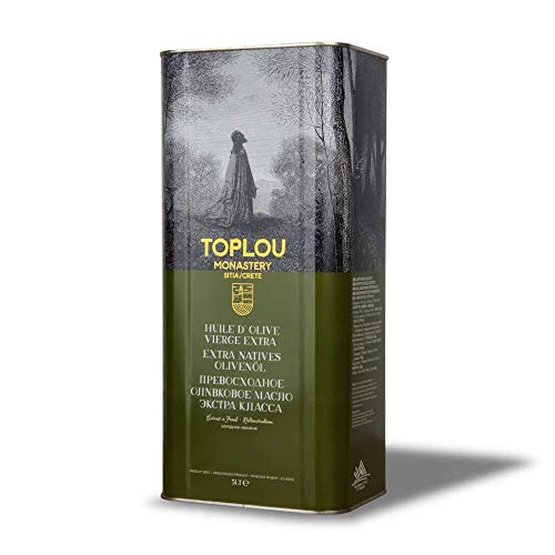Toplou Monastery - Huile d'olive Extra Vierge de Crète, Première Pression à Froid   5L bidon   Pour Cheveux, Peau et Aliments