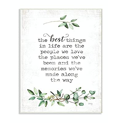 Stupell Industries The Best Things in Life are People Plants Typography Canvas Wall Art